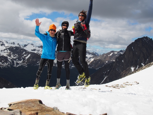 Loving the pre-Antarctic training in Argentina, on the Martial Glacier with Ron Schwebel, Jess, and some guy in big zero gravity shoes.