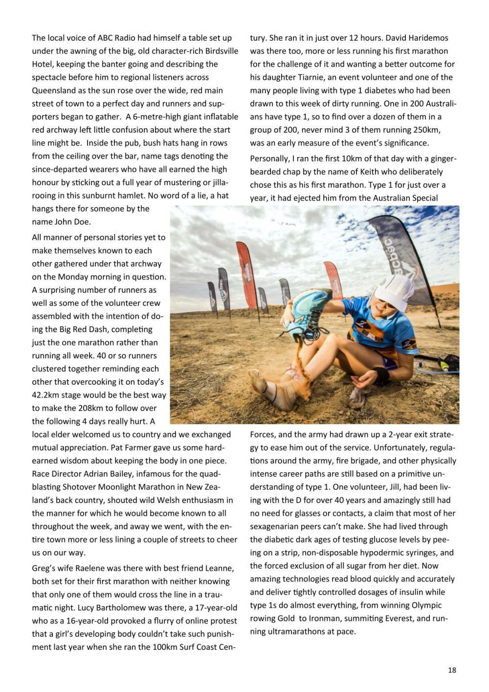 Sydney Striders Big Red Run article - RH18