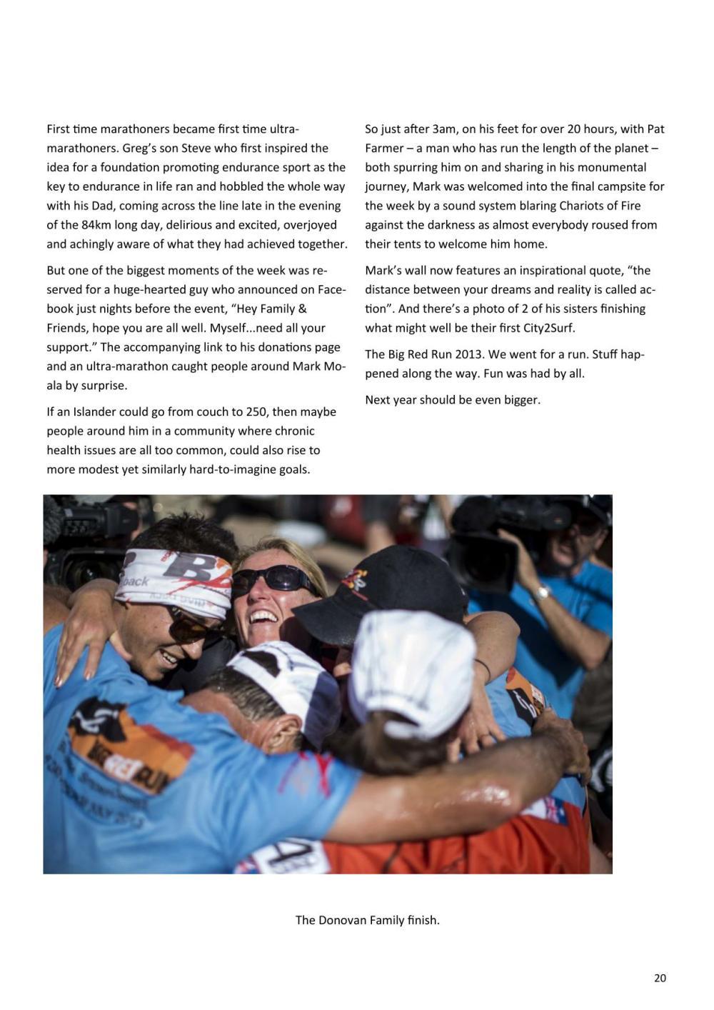 Sydney Striders Big Red Run article - RH20