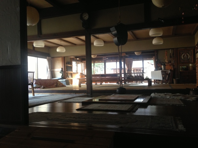 Much discussion of ultrarunning and the upcoming race would take place here over the coming days, over shared meals, during meetings, and less formally over warm sake with all our legs under one blanket. A flawless space, and simply beautiful.