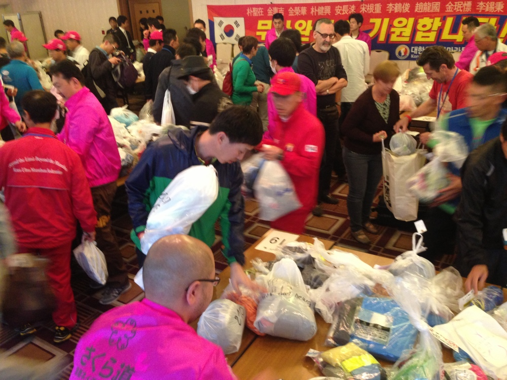 Bag drop - awesomely well organised, just like every element of the entire race.