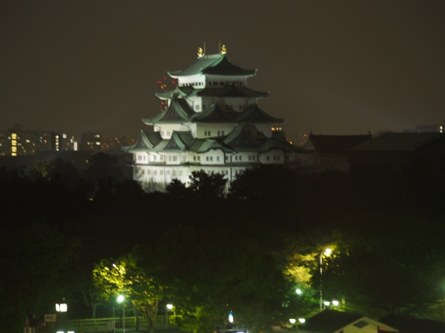 The view of Nagoya Castle from our hotel room the night before. It just seemed to sit there demanding that we do our best the next day. Exciting!