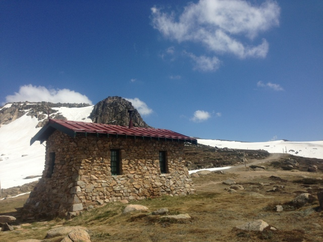 Seaman's Hut at the 228km mark. Still some real work to do here, but you know you're going to get there now.