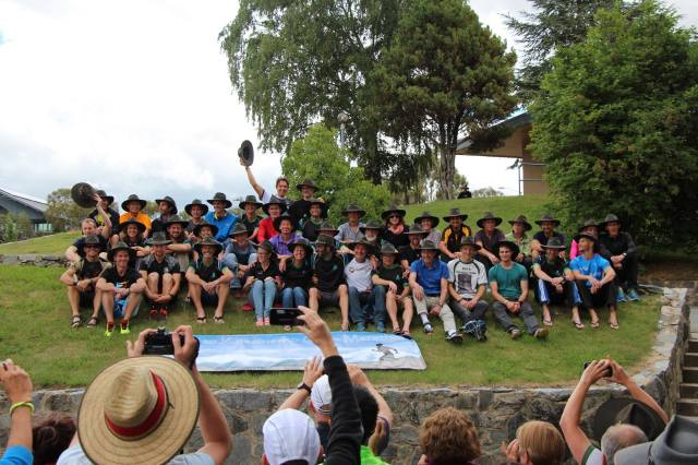 C2K Class of 2014: it's all about the Akubras! pic courtesy of Dave Graham