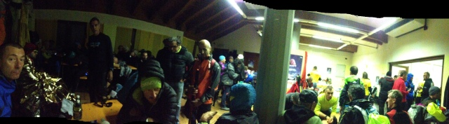 The scene at Rhêmes as we waited in wet unheated limbo.