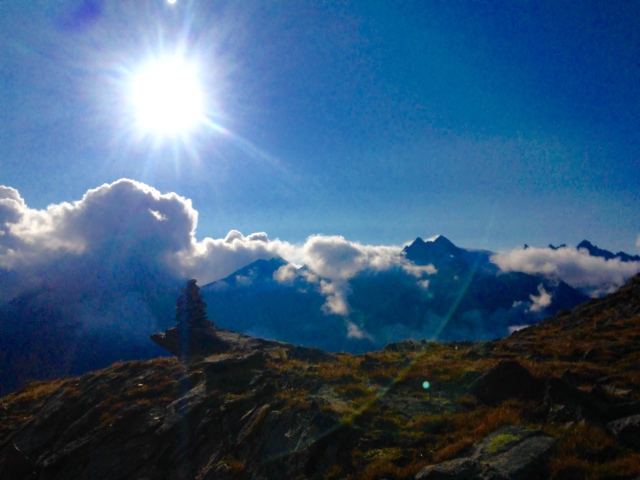 Rifugio Vittorio Sella is perched at 2500m in the lap of some pretty spectacular running country.