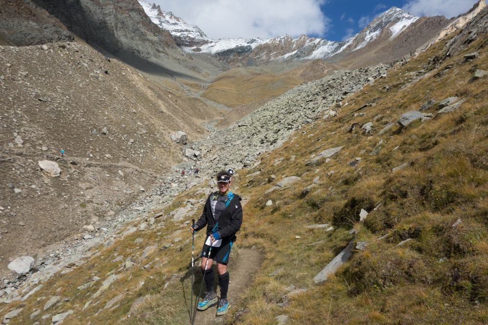 Jill snapped a pic of me on the way up to Col du Loson. Will have to remember to hold my hiking poles like a real man next time, damn it.